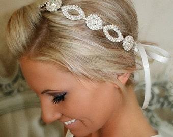 ON SALE Bridal Headband, Bridal Head Piece, CRYSTAL, Rhinestone Headband, Wedding Headband, Bridal Hair Piece, Bridal Headpiece, Rhinestone