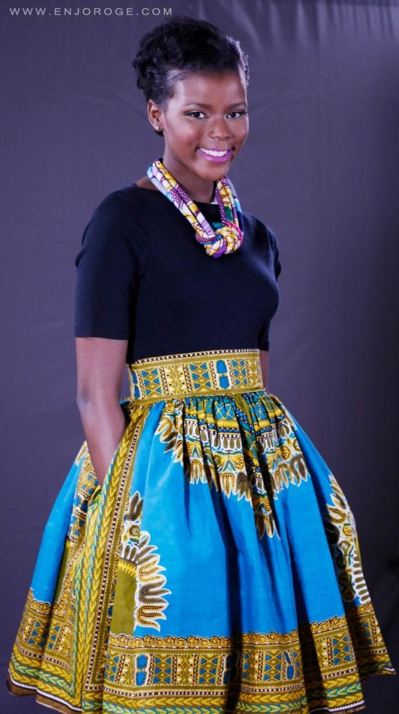 Christas Dashiki Skirt African clothing African Ankara