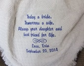 Personalized Mother of the Bride Gift | Mom of the Bride Gift Blanket | Gift for Mom from Bride