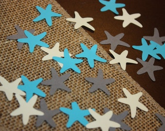 150 Starfish Confetti- Birthday- Baby Shower-Paper punch- Embellishments- Custom Colors