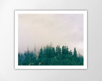 Forest Art Print, Foggy Pines, Modern Home Decor, Forest Print, Wall Art, Nature Poster, Nature Home Decor, Nature Photo Print, Forest Print