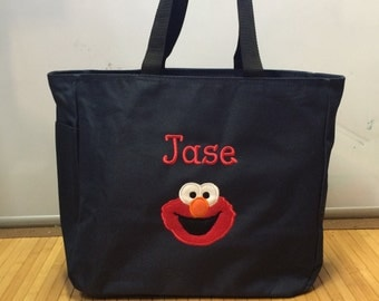 Personalized Elmo Tote Bag Baby Diaper Bag