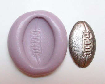 Football ball mold #747 - silicone  mold, craft mold, porcelain mold, jewelry mold, food mold, pop up mold, clays mold, flexible mold