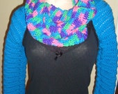 Long Sleeve Crochet Cozy Neck Warmer Cowl--One Size Fit Most--