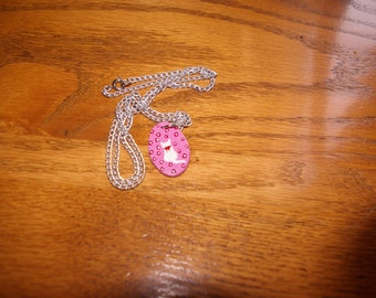 Handmade Polka Dot Cat Necklace