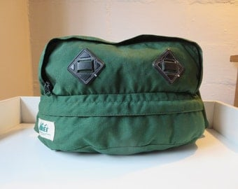 Vintage REI Green Cycling Bag Waist Pack - REI Hiking Pack - REI Bicycle Bag - Green Fanny Pack Large