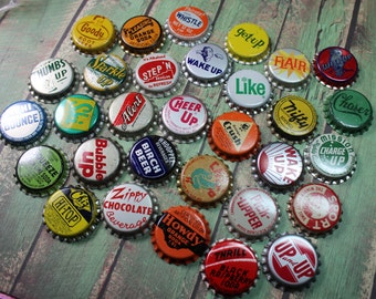 1 Vintage Bottle Cap with Fun Word(s)