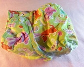 SassyCloth one size pocket diaper with Easter bunnies cotton print. Ready to ship.