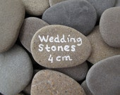 80 Wedding Stones Guest Book Stones Wish Stones Wedding Favor Flat Rocks Flat Beach Stones Wish Rocks Craft Stones Memorial Rocks - 1.5 inch