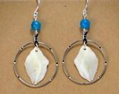 Silver Ring Gar Scale Earrings