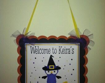 Witch Owl Door Sign