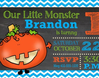 Our Little Monster - Birthday Invitation
