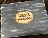 Handmade Wooden Guest Book Rustic Woodland Farmhouse Country Chic