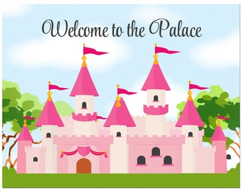 Princess Castle Welcome Sign Printable - Instant Download - Royal CelebrationCollection