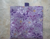 One Purple Flowers - Reusable Sandwich/ Snack Bag with tabs