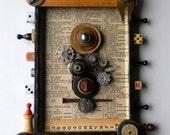 Box Art Assemblage - Sparkle & Light - Found Object Art - Wall Decor by Jen Hardwick