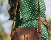 70s Tooled Leather Bag