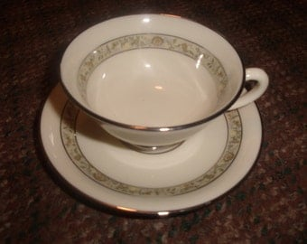 4 sets vintage lenox china springdale cup saucer usa platinum
