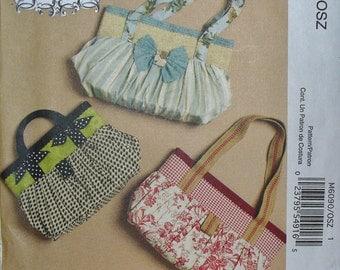 McCalls Fashion Accessories M6090 / McCalls Purse Pattern / Pleated Handbag Pattern  / 3 Styles