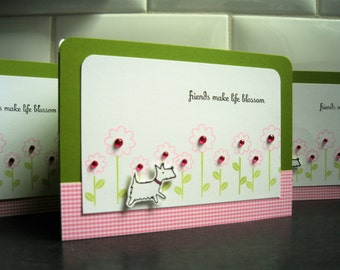 Westie Card, Friendship Card, Dog Birthday Card, Thinking of You Card, Thank You Card, Spring Card
