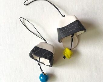 RING A DING porcelain bell