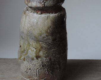 Anagama Fired Vessel, Ember Buried Local Virginia Clay, #744