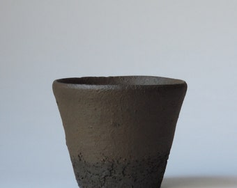 Wood Fired Cup, Reduction Cooled Local California Clay, #596