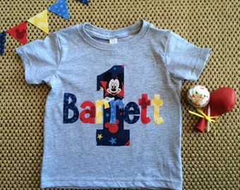 Personalized Mickey Mouse Birthday Shirt, Disney Birthday Shirt