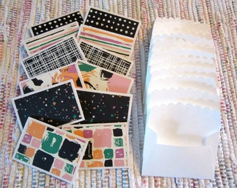 Little Note Cards and Envelopes  Set of 12  Package  #8