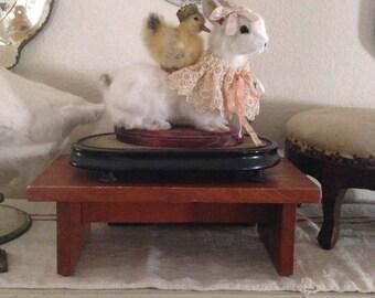 Sweet Vintage Wooden Stool - Milking Stool - Display Stool