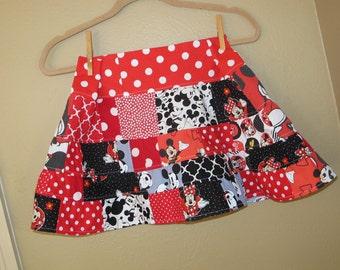 girls size 5t, 6, 6x, 7, - Disney, Mickey, Minnie twirl skirt - ready to ship