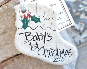 Baby's First Christmas Salt Dough Personalized Ornament