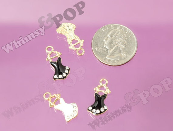 COL172 Infinity Charm Collection Silver Bronze and Gold Tone Mix 12 Charms