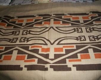 Vintage Hand Printed Nizhonie Fabric By Bahah-Zhonie (Frank Austin) Circa 1970's