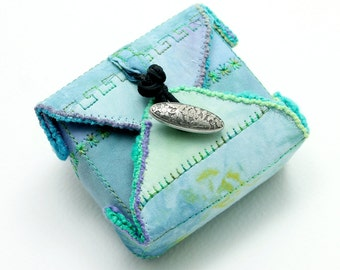 Handmade Fabric Box Sky Blue - Small