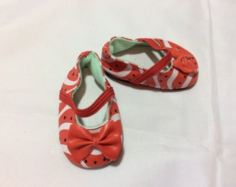 American Girl doll clothes, shoes, watermelon