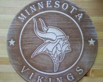 Minnesota Vikings engraved wall plaque
