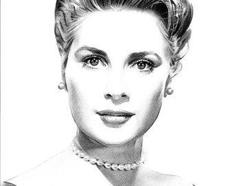 Grace Kelly Original Drawing