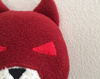 Daredevil Cat, Comic Superhero, stuffed animal plush toy, handsewn, ecofriendly