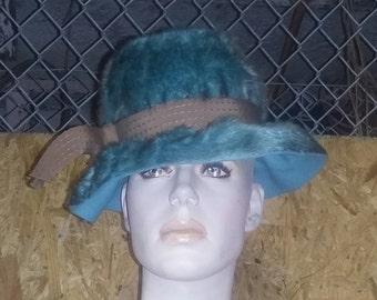 Vintage Schiaparelli Couture Funky Chic 60's Faux Fur Hat Boho