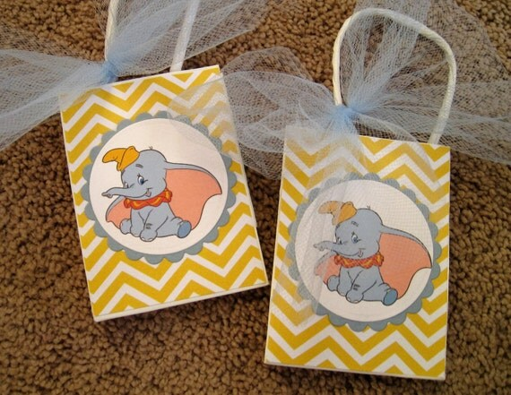 Disney Dumbo Party Favor Bags Set Of Six By Twocraftycreations