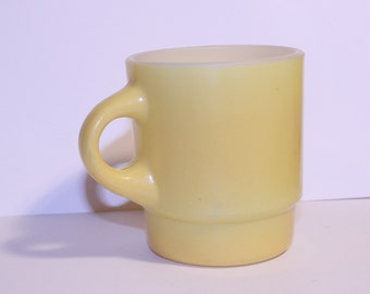 Yellow Anchor Hocking Fire King Coffee Cup, Vintage Yellow Coffee Cup, Retro Kitchen Decor