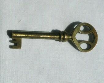 Old Antique Brass Skeleton Key