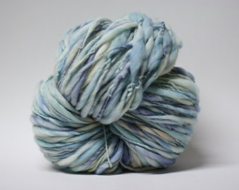 Merino Handspun Wool Thick and Thin Yarn Slub  tts(tm) Hand dyed Half-Pounder miniLR 1502x
