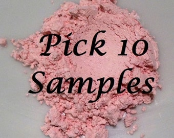 Organic SAMPLES YOU 10 PICK Beauty Minerals Vegan All Natural Gluten Free Eye Lips Nails