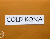 One Yard Gold Kona Cotton Solid Fabric from Robert Kaufman, K001-1154