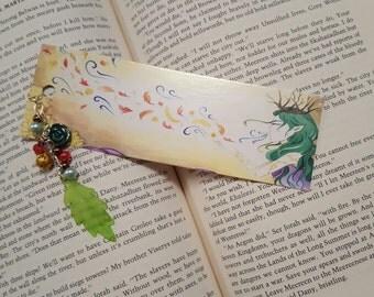 Autumn Faerie Beaded Bookmark