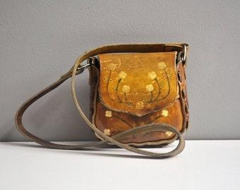 Vintage Tooled Leather Child's Purse
