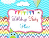 Crayon Invitations and Banner