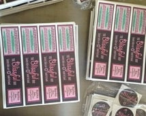 Labels, product labels, 100 custom stickers, sticker printing